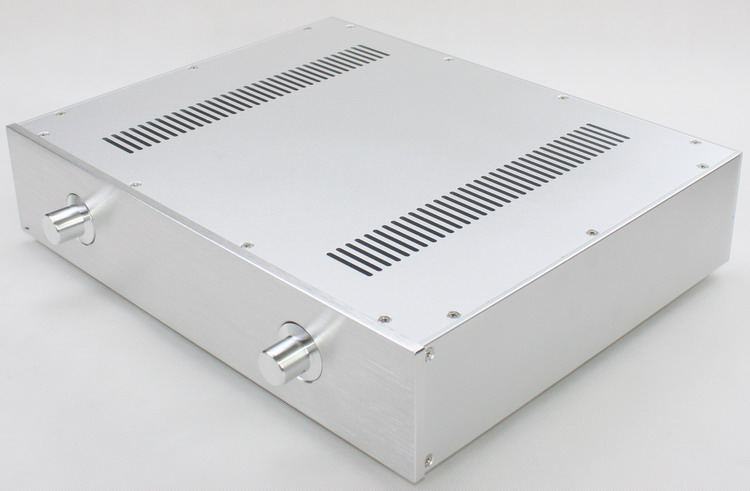 CASE 430*92*343mm WA59 Silver Full aluminum amplifier chassis / Pure stage / Tube amp amplifier / AMP Enclosure / case / DIY box diy amplifier case 420 140 385mm a2001b full aluminum power amplifier chassis amp enclosure case box external radiator