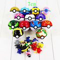 7cm Free Shipping 13 colors available Japan Anime Pokeball Toys Poke Ball With Fairy Animals PVC Action Figure Toys