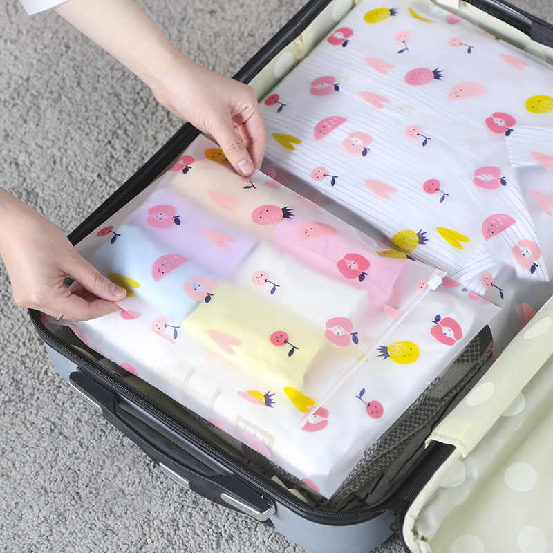 5 sets Outdoor travel Waterproof Storage Bag Suit for Clothes Underwear Shoes Translucent Packaging Bag Travel Luggage Organizer