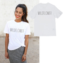 купить Showtly  WILDFLOWER Women's T Shirt Cute Peace Love  junior clothes workout summer tee tops дешево