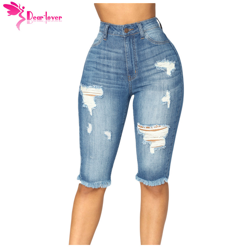 Women's Clothing Qualified Jeans Woman 2019 Spring Summer New Denim Trousers Foot Heavy Hand Drill Beads High Waist Slim Elastic Nine-cent Jeans Lady