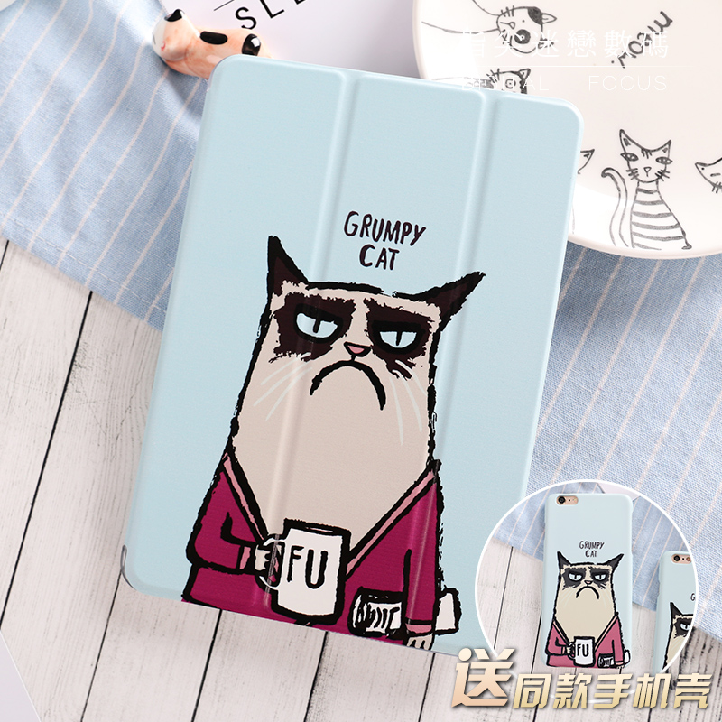 Unhappy Cat Magnetic Flip Cover For iPad Pro 9.7 10.5 Air Air2 Mini 1 2 3 4 Tablet Case Protective Shell for New iPad 9.7 2017 the unhappy giant level 3