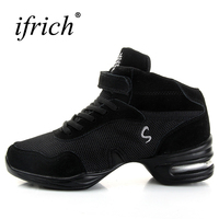 Ladies Dance Shoes Comfortable Ballroom Dancing Shoes For Girls Breathable Womens Dance Jazz Sneakers Black Jazz