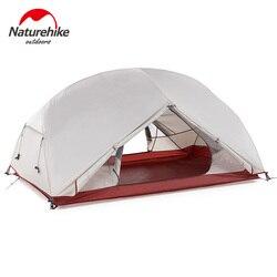 Naturehike personalizado Mongar 2 3 personas impermeable de doble capa de aluminio de la tienda de campaña de aluminio gris ultraligero tiendas de campaña Mat e-ems