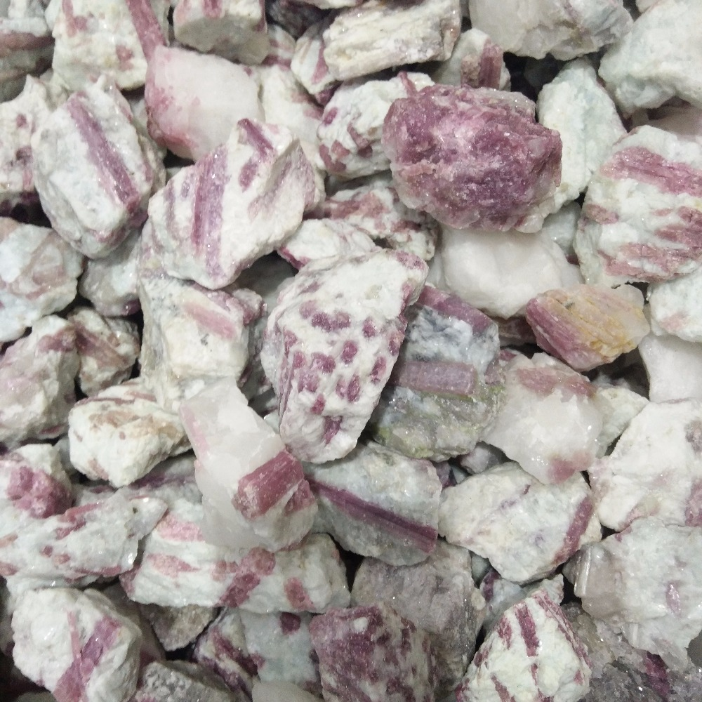 Natural Rock Raw Rubellite Rough Stone Red Tourmaline Crystal Stones For Sale