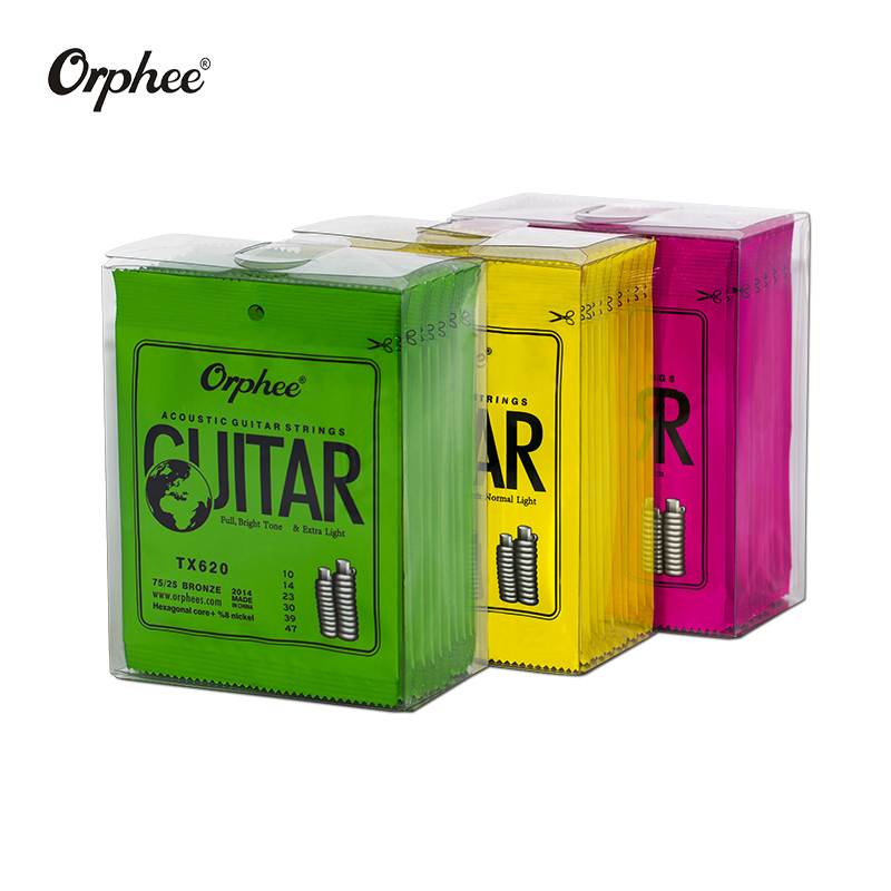 Free Shipping 10 Pcs  Orphee Guitar Strings TX620/TX630/TX640 Acoustic Guitar Strings   Extra Light