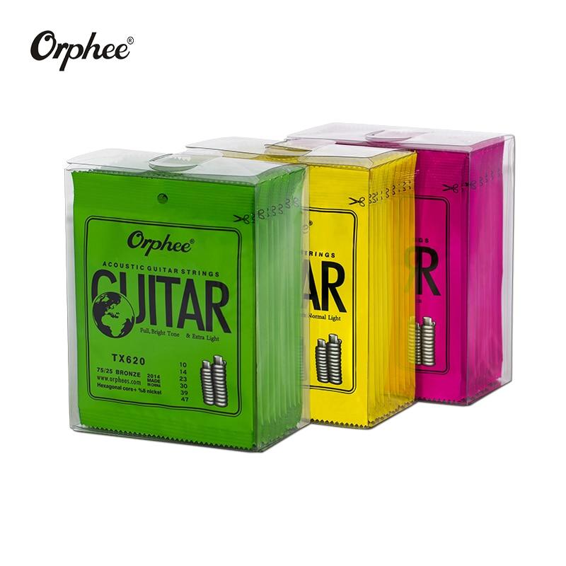 Free Shipping 10 Pcs  Orphee Guitar Strings TX620/TX630/TX640 Acoustic Guitar Strings   Extra Light