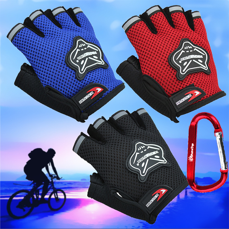 Men/Women summer Cycling Gloves Bike Gloves Half Finger Weight lifting Gym bicycle gloves kids riding Gloves children bicycle robesbon half finger cycling bicycle gloves