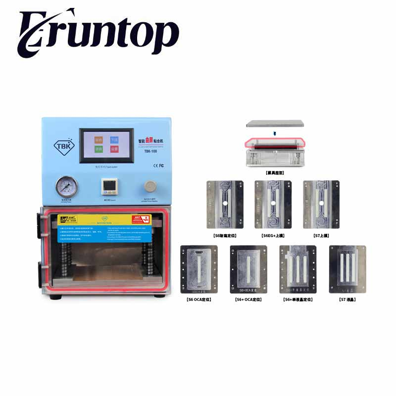 7 inch Straight Screen Press for Sumsung Edge S6 S6+ S7 S8 LCD OCA Vacuum Laminating Machine TBK Debubbler tbk 708 for curved screen oca lcd laminating machine for s6 edge s7 edge bubble remover built in vacuum pump air compressor