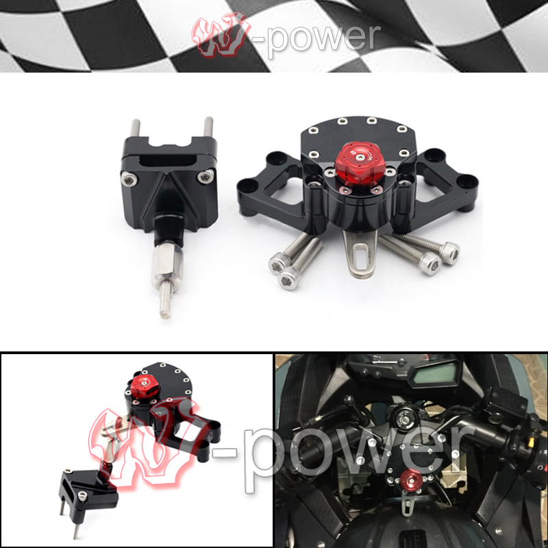 fite For KAWASAKI EX250 NINJA 250R/300 Black + Red Motorcycle Reversed Safety Adjustable Steering Damper Stabilizer with bracket arcadia spa ex red mountains 4 эйлат