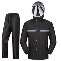 Impermeable Raincoat Adult Hiking Bike Black Red Thick Waterproof Coat Women Body Raincoat Rain Jacket Pants Suit Raingear R5C