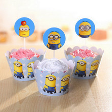 minions party supplies cup cake topper decoration birthday cake decorating supplies despicable me minion wrapper despicable me minion slipper little kid big kid