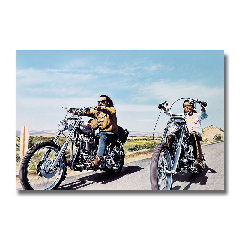 Us 4 6 20 Off Easy Rider Classic Movie Poster Wall Art Silk Print 12x18 24x36 Inch Decoration Pictures Wallpaper For Living Room Decor In Painting