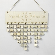 Christmas Wooden Hanging Decorations 2020 New Year Wood Family and Friends Calendar Pendants Xmas Decor for Home JJ50545 купить дешево онлайн