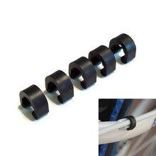 10 шт. для тормозного кабеля/переключения передач Чехол C-застежки пряжки пластиковые bicyle C образные зажимы корпус шланг MTB велосипед дорожный направляющий