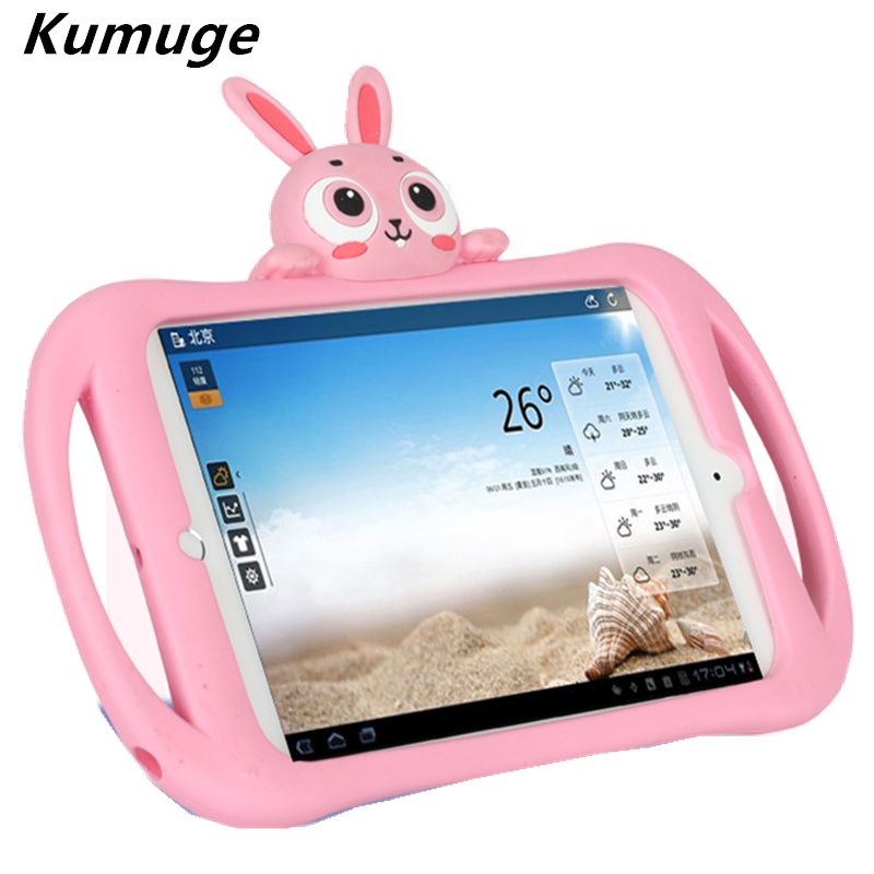 Cute Rabbit Cover Case for 2017 New iPad 9.7 Soft Shockproof EVA Silicone Stand Case for New iPad 2017 Model A1822 Coque for Kid for ipad mini4 cover high quality soft tpu rubber back case for ipad mini 4 silicone back cover semi transparent case shell skin