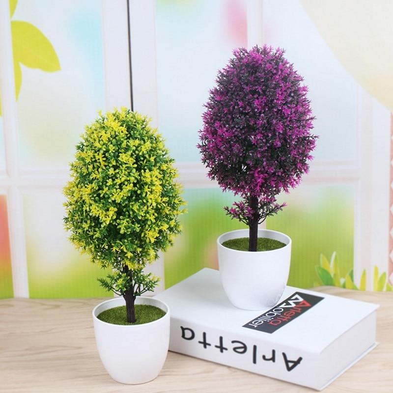 Künstliche pflanzen baum bonsai gefälschte anlage decor bonsai für home dekoration kunststoff pflanze gefälschte blumen bonsai hochzeit decor