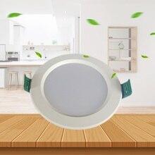 Oprawy LED AC90 260V okrągłe wpuszczone W sufit lampy 18W 15W 12W 9W 5W zimny biały 6500K żarówki sypialnia kuchnia wnętrze Spot