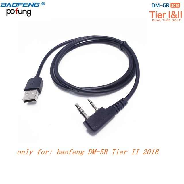 Baofeng DM-5R RD-5R Digital Walkie Talkie Tingkat I & II USB Kabel Pemrograman untuk Pofung DMR Tier 2 HAM Dua radio