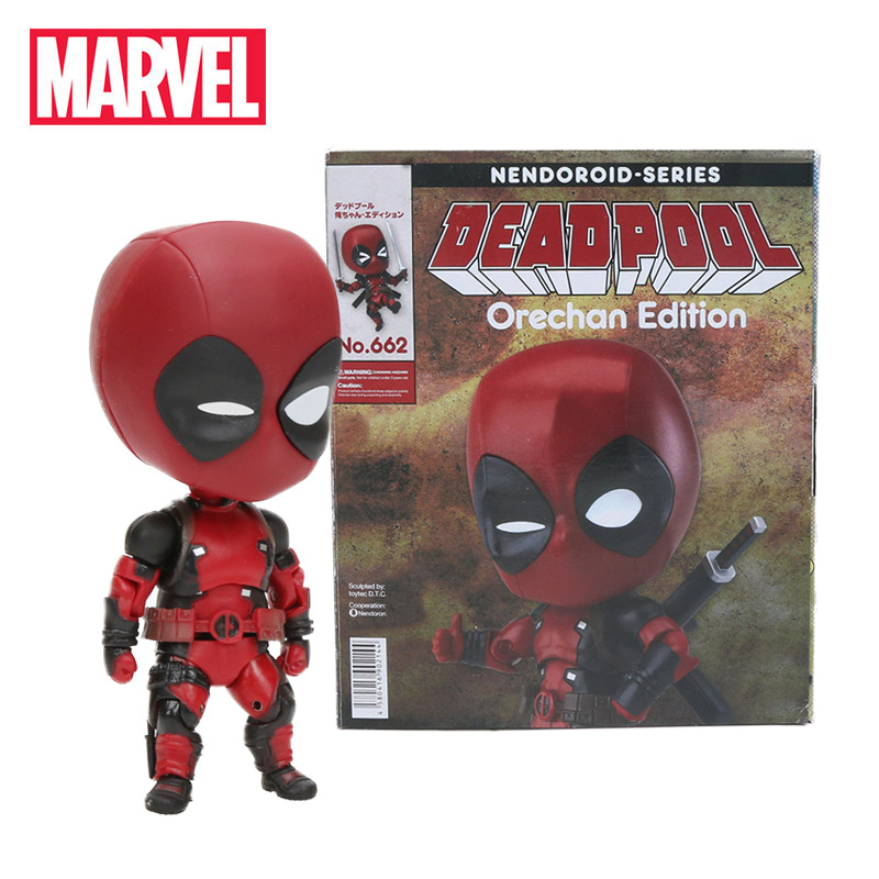 2018 10cm Marvel Toys Nendoroid Series 662 Cute Deadpool Orechan Edition PVC Action Figure Superhero Collectible Model Doll Toy(China)