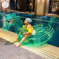 240cm Inflatable crystal horse Unicorn pool float pool floats for adults Inflatable Pegasus Kids Swimming Ring pool party Toy