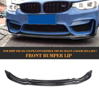 Carbon Fiber Racing Head Bumper guard Front chin Lip spoiler Extension for BMW F80 M3 F82 M4 Sedan Coupe Convertible 2014 2017