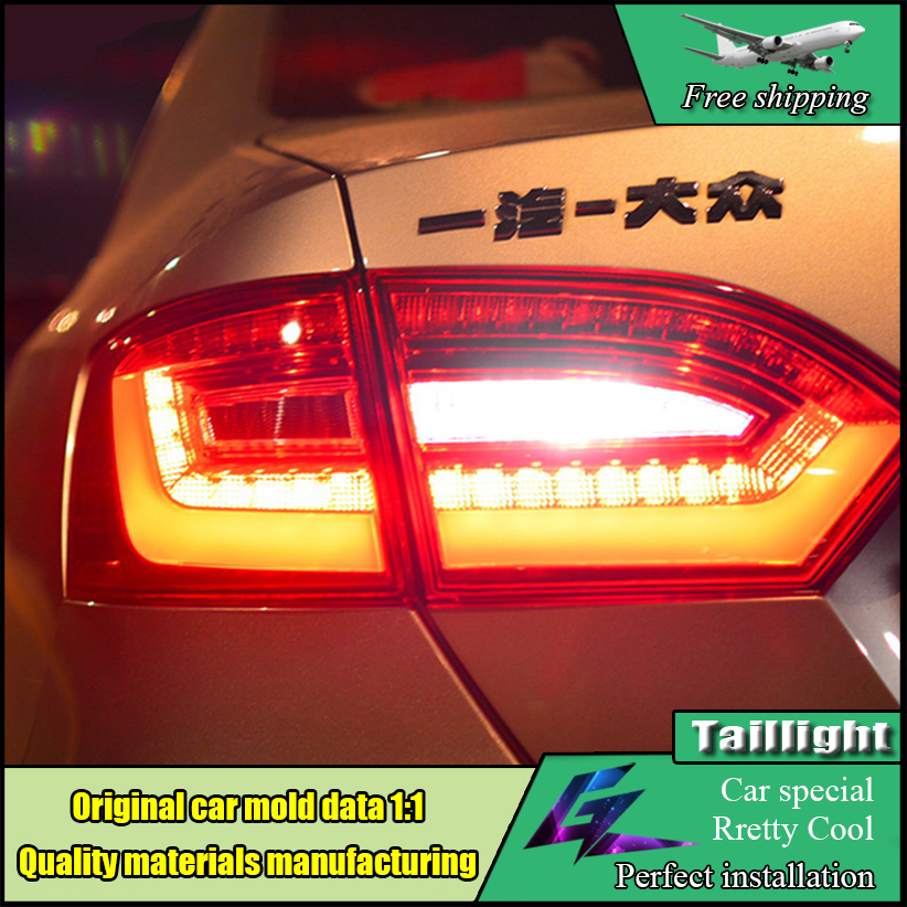Car Styling Taillight Accessories For VW Jetta MK6 Tail Lights 2011-2014 LED Tail Light LED Rear Lamp DRL+Brake+Park+Signal car styling tail lamp for vw jetta 2011 2014 tail lights led tail light rear lamp led drl brake park signal stop lamp