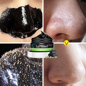 Image 3 - Бамбуковый уголь черный коллагеновая маска от черные точки на носу мертвой кожи для чистки угрей средство для сужения пор Уход за лицом 120 г