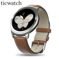 Ticwatch 2 Смарт часы MTK2601 1,2 ГГц 512 М Оперативная память 4 ГБ Встроенная память gps Носимых устройств Tracker Smartwatch телефон IP65 водонепроницаемость Oak