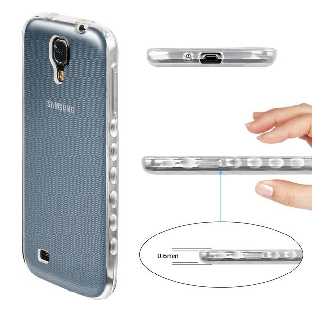 Transparent TPU Case for Samsung Galaxy S4 S 4 GalaxyS4 I9515 GT-I9515 I9505 GT-I9505 i9500 GT-I9500 Silicon Cover Phone Frame