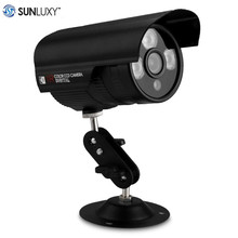 SUNLUXY 1000TVL CCTV Camera PAL 3 Array LEDs Bullet Camera 1 3 CMOS 6mm Lens Waterproof