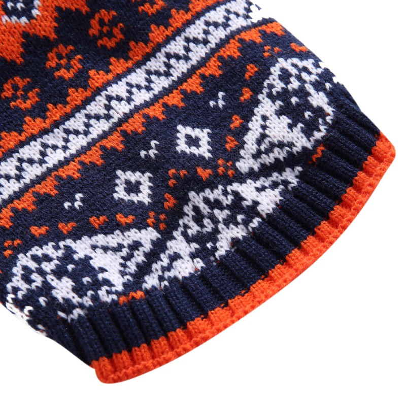 Pet Holiday Season Nordic Fair Isle Bat Dog Sweater Winter Warm Comfortable Clothes For Puppy Pet Dogs Gift Lovely Dogs New