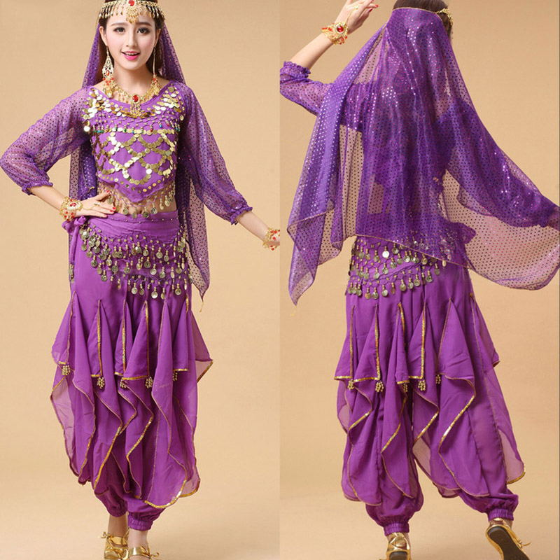 High Quality Belly Dance Costumes Suit Belly Dance Clothes New Spring Autumn Long Sleeved Rotating Pants Women Stage Performance