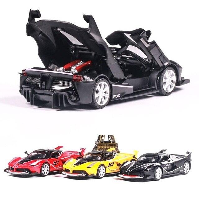 Free standard shipping 1:32 FXX Sports car Alloy car model Musica Pull Back kids toys The best gift for children