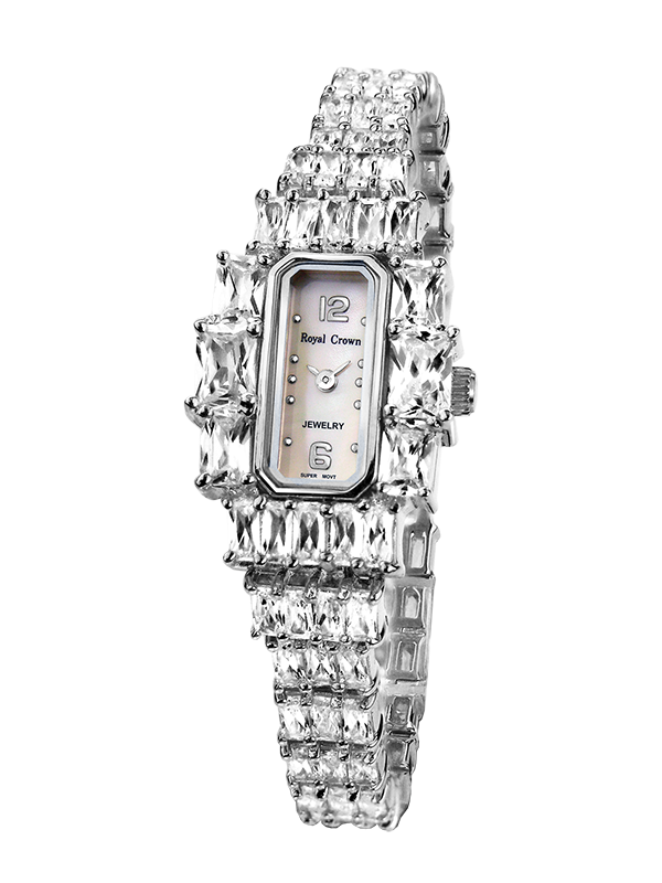 Royal Crown Jewelry Watch 3612B Italy brand Diamond Japan MIYOTA platinum Square Bracelet Retro Waterproof Female Watch Korean royal crown jewelry watch 1514b italy brand diamond japan miyota platinum bracelet korean version female watch fashion