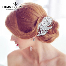 New Design Bridal Clear Flower Wedding Hair Comb Piece Austrian Crystal Bridesmaids Headpiece factory price