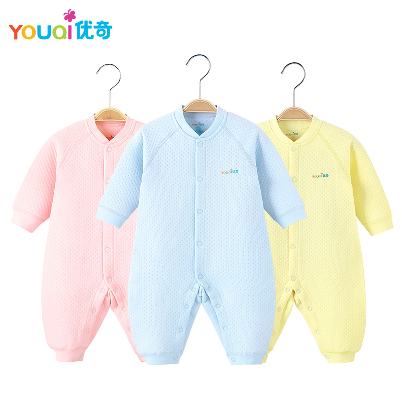 YOUQI Winter Baby Clothes Unisex Boys Girls Rompers Jumpsuit Toddler Infant Outwear Clothing fall Spring Underwear Outfits Suit newborn baby girls rompers 100% cotton long sleeve angel wings leisure body suit clothing toddler jumpsuit infant boys clothes