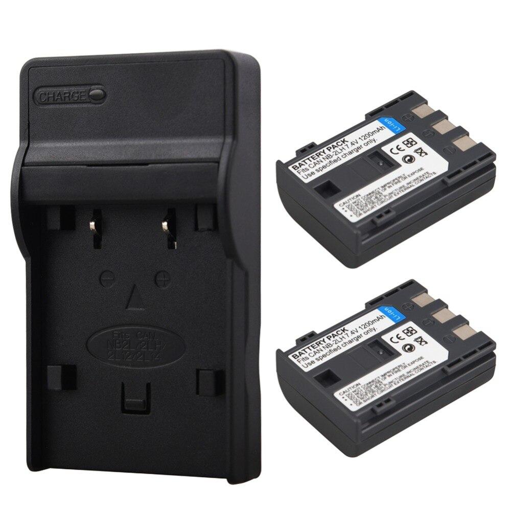 2 Pcs 1200 mAh NB 2L NB-2L NB-2LH Caméra Batterie Pour Canon PowerShot S30 S50 S60 S80 EOS 350D MV940 MV901 + USB Chargeur