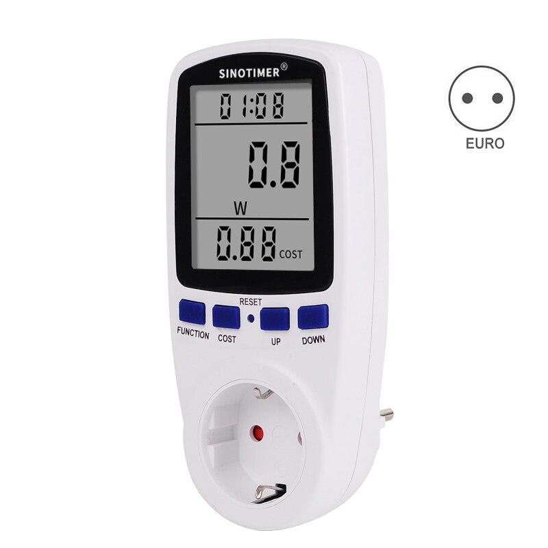 Ue plug digital tensão wattmeter consumo medidor de energia watt energia kwh tomada 220 v 230 v ac taxas de eletricidade analisador monitor