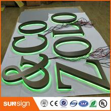 Wodoodporny LED szczotkowany materiał akrylowy led podświetlany napis tanie tanio shsuosai CN (pochodzenie)