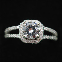 Hot Selling S925 Sterling Silver Diamond Ring Women's Wedding Zircon Fine Jewelry Rings