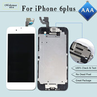 Full Set Screen For IPhone 6 Plus LCD TouchScreen Replacement Digitizer Assembly Complete Display Home Button
