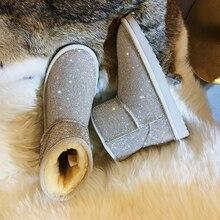 Для женщин обувь Стразы зимние домашние сапожки новые зимние 2008 Полный дрель теплые штаны на флисе дрель противоскользящая обувь из материала на основе хлопка