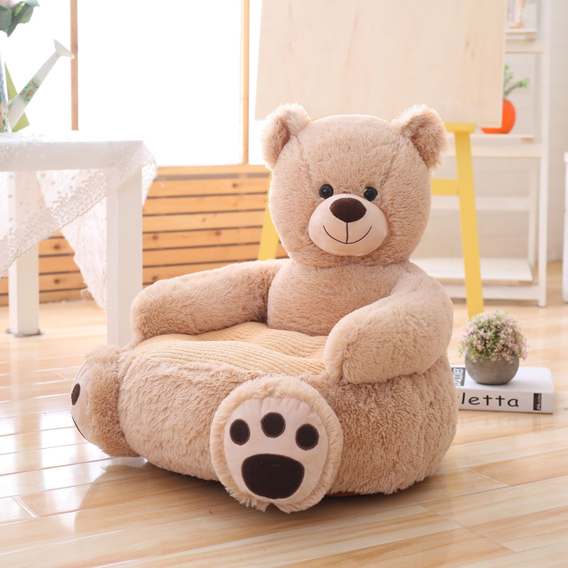 New Lovely Cartoon Kids Sofa Chair Plush Toy Seat Baby Nest Sleeping Bed Adult Pillow Cushion Stuffed Cute Teddy Bear Panda Doll-in Stuffed & Plush Animals from Toys & Hobbies    2