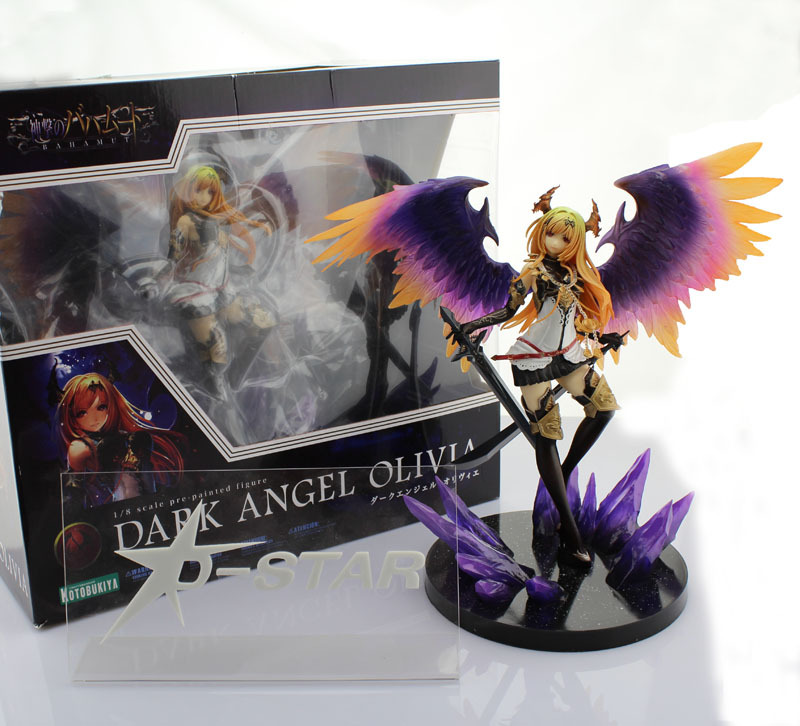 Free Shipping Cool 11.5 Bahamut Dark Angel Olivia 1/8 Scale Pre-painted Boxed PVC Action Figure Collection Model Toy Gift free shipping cool 11 5 bahamut dark angel olivia 1 8 scale pre painted boxed pvc action figure collection model toy gift