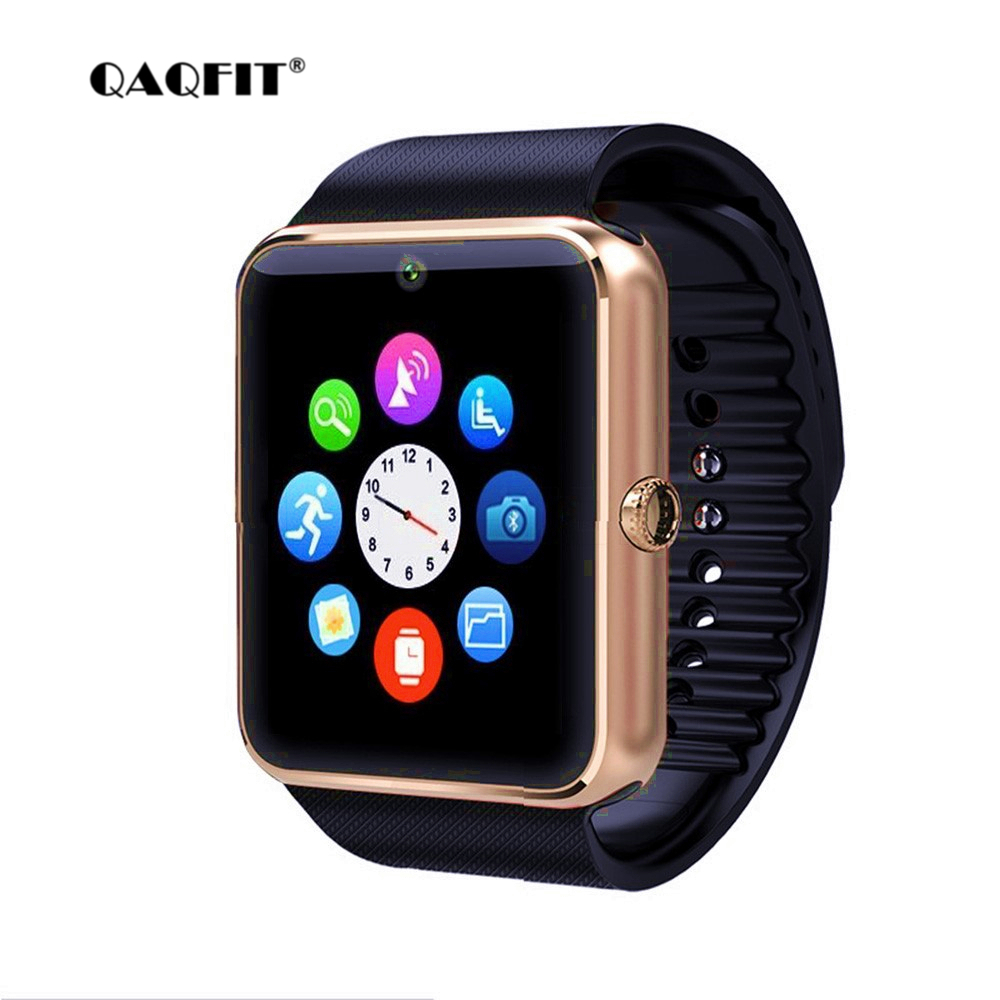 QAQFIT Smart Watch GT08 Clock Sim Card Push Message Bluetooth Connectivity For Android IOS Apple Phone PK Q18 DZ09 Smartwatch стоимость