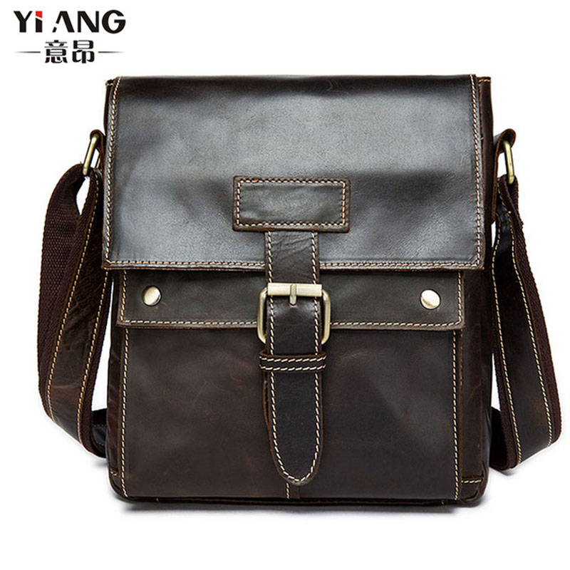 Men Vintage Genuine Leather High Quality Business Briefcase Messenger Single Shoulder Bag Cigarette Case Phone BagsMen Vintage Genuine Leather High Quality Business Briefcase Messenger Single Shoulder Bag Cigarette Case Phone Bags