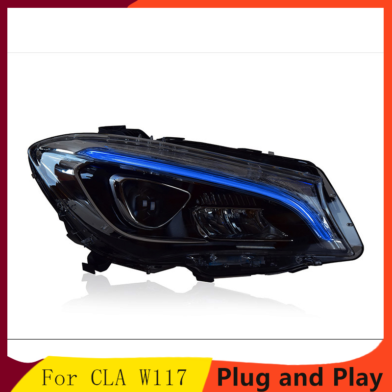 Car Styling For Mercedes Benz CLA W117 headlight assembly low with new high with unlock a