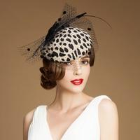British Pillbox hats for women Wool Felt Women Hat Classic Beret Caps Elegant Church Hat Wedding partyFedora flat Formal hat
