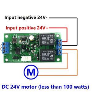 Image 2 - Kablosuz uzaktan kumanda anahtarı 433 mhz rf verici alıcı 18 v 24 v motor Ileri + Ters Dur direksiyon Denetleyici modülü